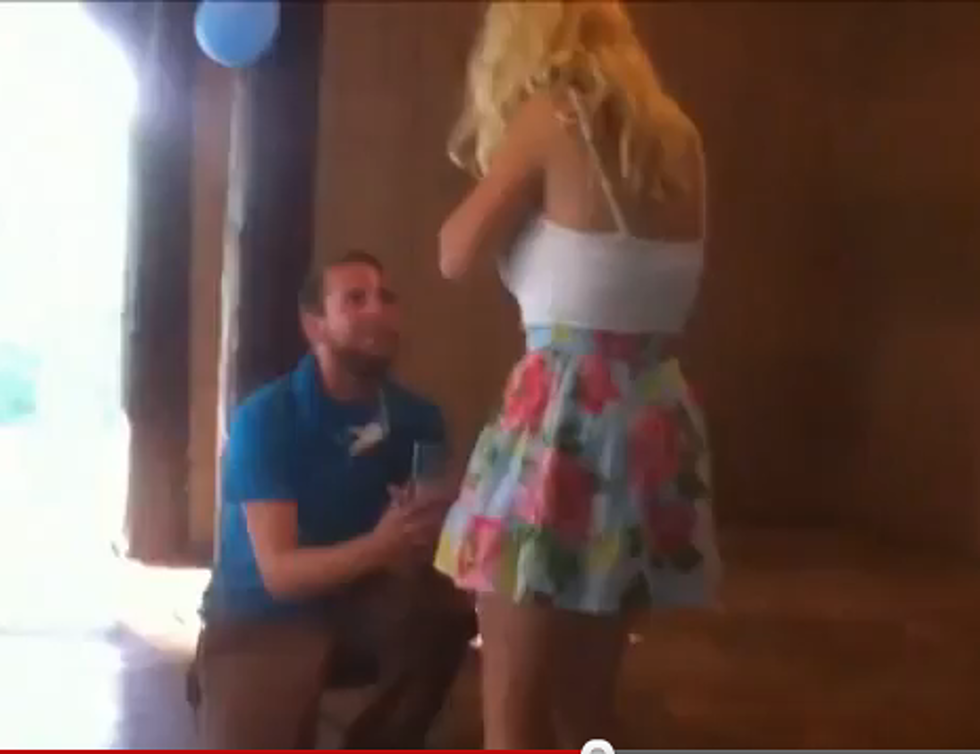 Girl Faints After Wedding Proposal Video