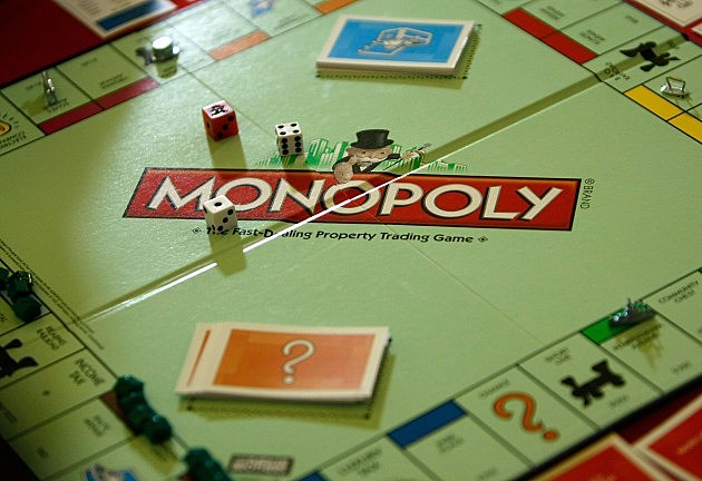 on New Monopoly Game Board