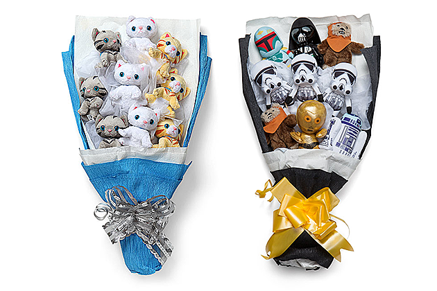 Give a plush kitten or star wars bouquet for valentine 39 s day for Bouquet internet