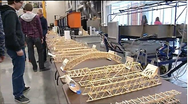High School Students Compete In Bridge Building Competition