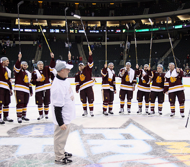 NCAA Men's Frozen Four - Michigan Wolverines v Minnesota Duluth Bulldogs