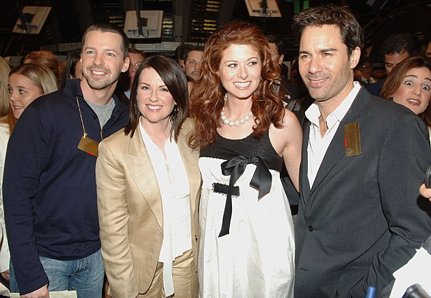 The Cast of 'Will and Grace' Ring The NYSE Closing Bell