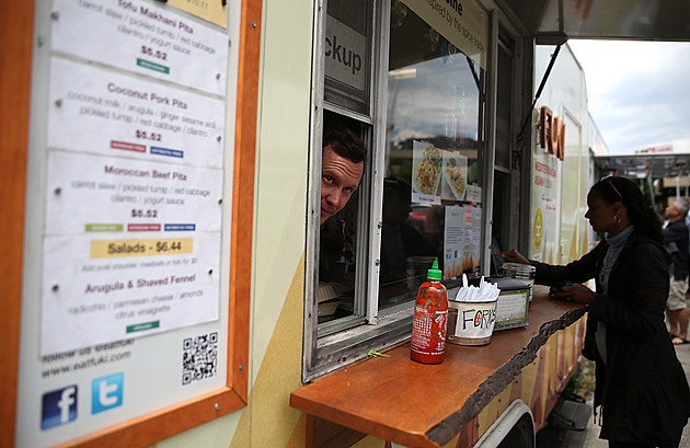 "San Francisco Food Trucks Gather At Food ""Markets"""