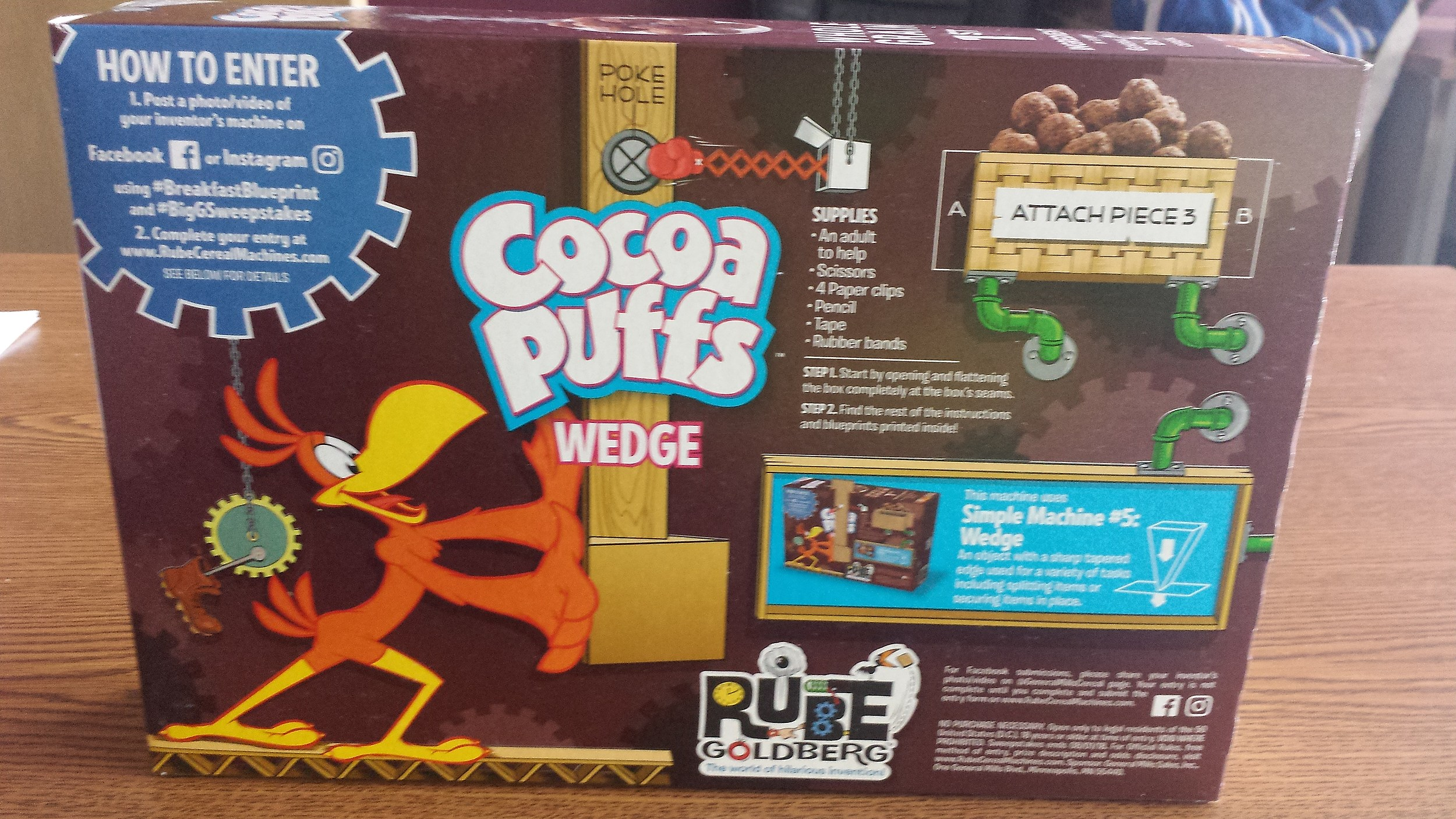 General mills issues rube goldberg machine cereal boxes malvernweather Image collections